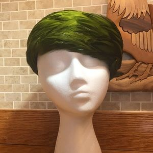 Green Feathered hat from Grandma Jahn Collection